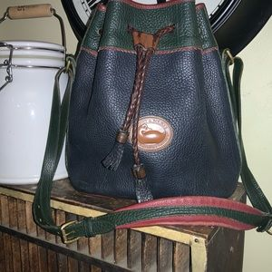Dooney and Bourke large multi colored bucket bag